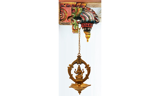 Hanging Brass Ornament