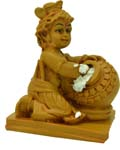 Butter Krishna - Wood Finish