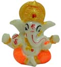 Small Ganesh - Orange