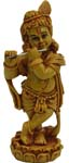 Chandan Flute Krishna - Wood Finish