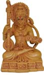 Chandan Hanuman - Wood Finish