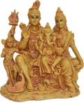 Shiva Family - Wood Finish