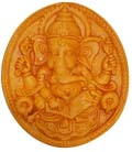 Earthen Oval Writing Ganesh