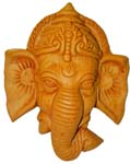Earthen Face Ganesh