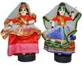 Cloth Dancing Lady Pair - Red & Red