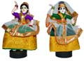 Cloth Dancing Lady Pair - Violet & Green