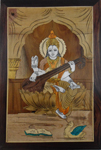 Enduring inlay Wall Hanging - Saraswathi Panel