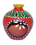 Earthen Aroma Oil Pot - Red