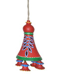 Earthen Hanging Bell - Red (Leaf)