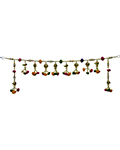 Lucent Beaded Door Toran - Round Parrot