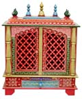 Ethnic Two Door Mandap - Lt.Pink Finish