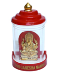 Brass Polished Ganesh in Acrylic Shell