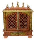 Ethnic Two Door Mandap - Copper Finish