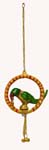 Silvery Parrot Wall Hanging Trinklet