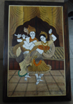 Enduring inlay Wall Hanging - Radha Krishna Panel