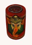 Wood Decor Ganesh Tea Light Holder