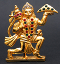 Shiny Crystal Brass Polished Hanuman