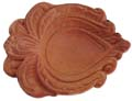 Earthen Floral Leaf Diya 5 pieces set