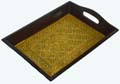 Wood Decor Embossed Design Tray-S
