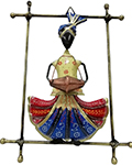 Indian Wrought Iron Decor Pagadi Musican Mirthanga