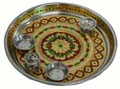 Chrome Puja Floral Plate