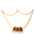Temple Jewelry Short Necklace With Kemp & Pearls