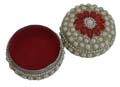 Lustre Beaded Sindhoor Box - Medium