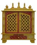 Ethnic Two Door Mandap - Gold Finish
