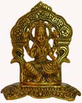 Silvery Lakshmi Idol Antique Gold