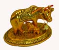 Silvery Cow And Calf  - Antique Gold