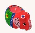 Wood Decor Elephant Tea Light Holder