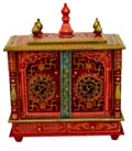Ethnic Front Open Flat roof mandap - Door / OM