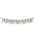 Lucent Beaded Door Toran - White bead