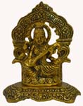 Silvery Saraswathi Idol Antique Gold