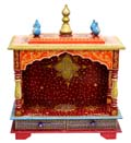 Ethnic Front Open Flat roof mandap - Red /Orange