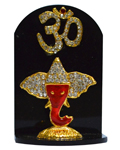 Brass Polished Ganesh on Stand