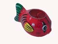 Wood Decor Fish Tea Light Holder