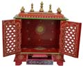 Ethnic Two Door Mandap - Orange Finish