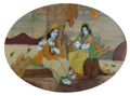 Enduring inlay Wall Hanging - Radha Krishna