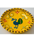 Paper Machie Decorative Plate - Yellow