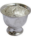 Silvery White Metal Chandan Cup