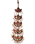 Temple Jewelry Nethi Chutti with Kemp and Pearls