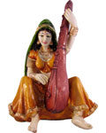 Enchanting Lady Musician With Veena