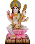 Enchanting Saraswathi On Lotus
