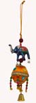 Beaded Elephant  Ball Hanging Trinklet