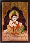 Inlay Wall Hanging - Butter Krishna