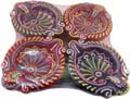 Earthen Diwali Diya 4 pcs Set