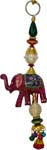 Beaded Elephant Hanging - Pink
