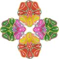 Diwali Diya Set of 4 pieces