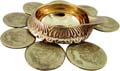 Lakshmi Kuber Lamp with 8 Coins